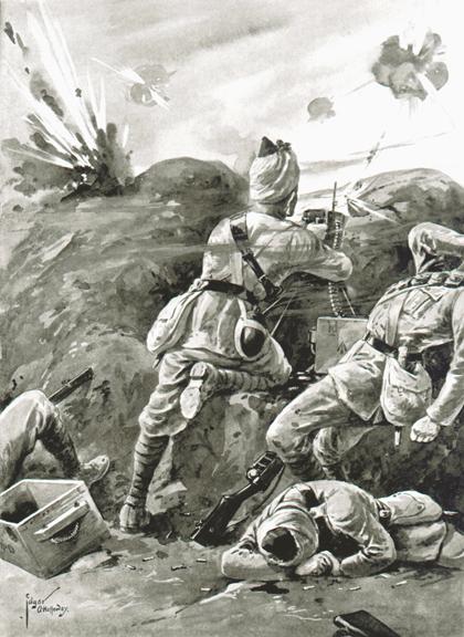 Action by Sepoy Khudadad Khan VC Ypres