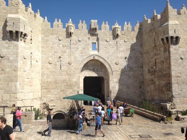 Damascus Gate, Jerusalem; Palestine muslim traveller