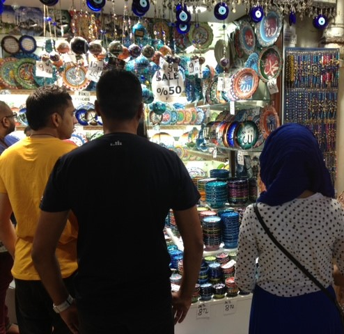 Shops At The Grand Bazaar, Istanbul: Turkey muslim traveller